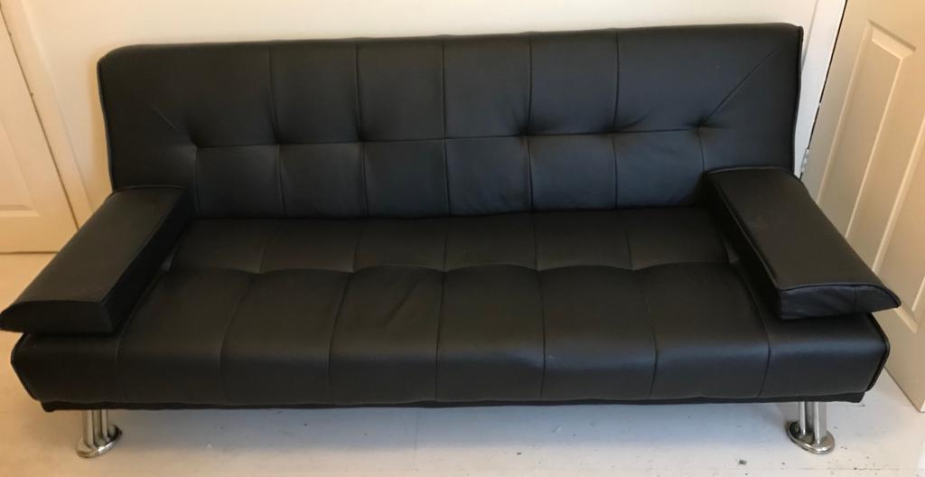 Next bed settee, faux leather, great condition!