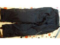Black REV IT! Ladies motorbike trousers. size XS short (suit size 8)