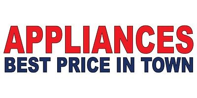 Appliances Best Price In Town Red Blue DECAL STICKER Retail Store (Best Price Retail Store)