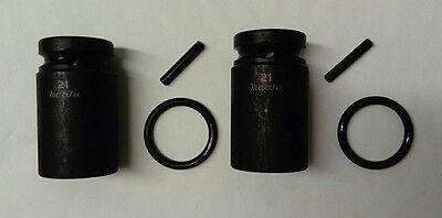 "2 x Genuine Makita 21mm Scaffolders Socket - 1/2"" Makita Scaffold Sockets"