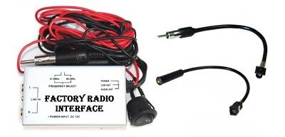 Factory Radio Stereo Auxillary Aux RCA Audio Input Adapter Wired FM Modulator   ()