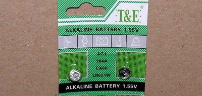 2x 1,55Volt Knopfzellen Uhren Uhr batterie AG1 LR621 SR621 364 621 Alkaline T&E