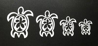 Family Sea Turtle stickers - Surf Hawaii Surfing Kids Beach Maui Kona