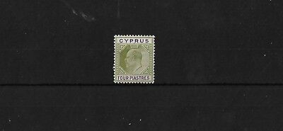 CYPRUS SG54, 4PI 'CROWN CA' LIGHTLY MOUNTED MINT, CAT £55