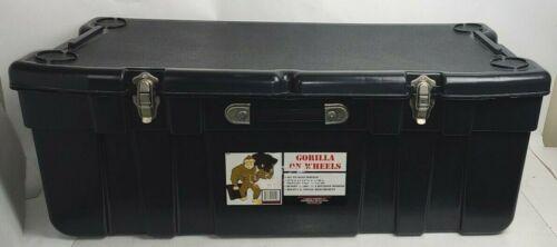 "J Terence Thompson 7309 Black Storage Trunk 37"" x 17.5"" x14"" Gorilla On Wheels"