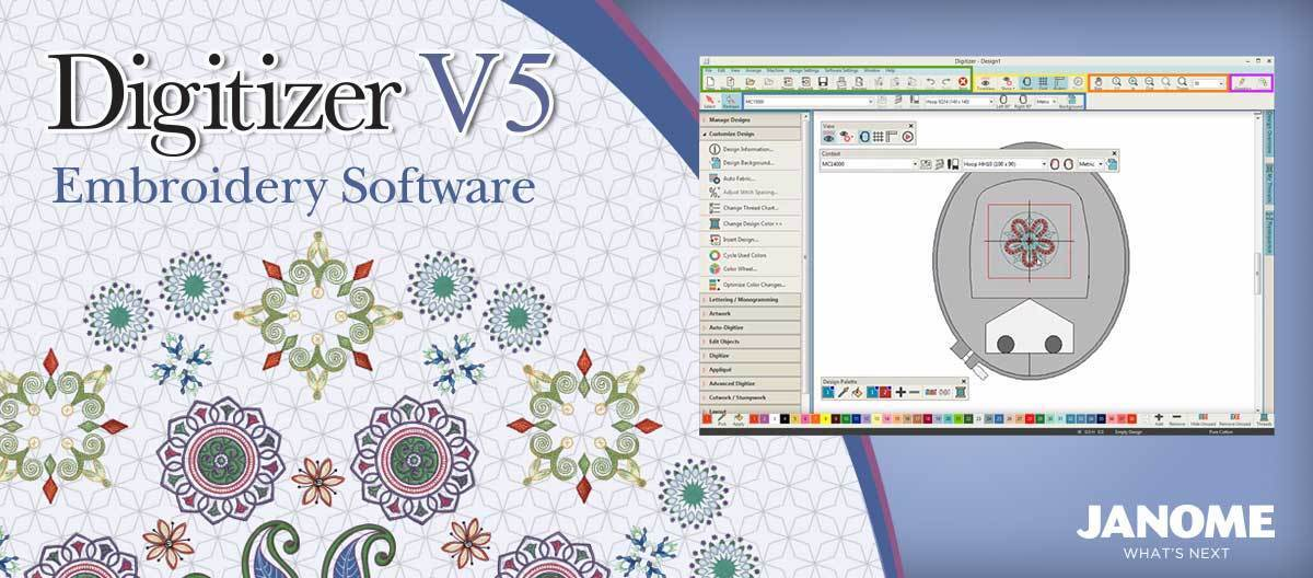 Janome Digitizer Embroidery Software 30 Day Trial Disc Dvd-Rom UK Version v5.0