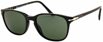 Persol Herren Damen Sonnenbrille PO3133-S 9014/31 52mm Schwarz eckig H