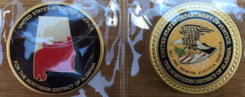 US Attorneys Office - Northern District of Alabama challenge coin