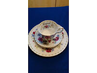 Royal Albert Flower of the month , bone china cup, saucer and plate- August