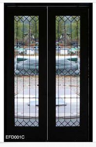 Heritage Leaded glass exterior Doors Double pre-hung