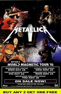 METALLICA 2010 Laminated Australian Tour Poster