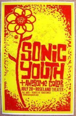 SONIC YOUTH 2009 Gig POSTER Portland Oregon Concert