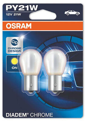 Osram Diadem chrom PY21W 21W 12v Blinker Leuchtmittel 2 Stück IM Duopack 2 Pack 123
