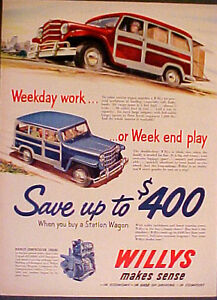 1951 Willys Jeep Station Wagon Double Duty F Head