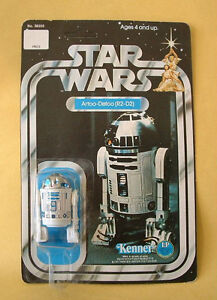 Vintage Original 1977 Star Wars 12 Back  R2-D2 MOC Unpunched Action Figure