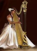 Harpist playing for your venue