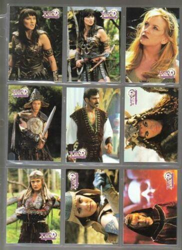 TOPPS - XENA WARRIOR PRINCESS - SEASON 3 - COMPLETE BASE TRADING CARD SET - RARE