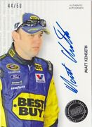Matt Kenseth Autograph Cards