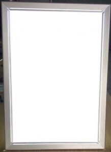 Silver Light Box Display, LED Movie Poster Display