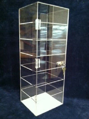 Acrylic Counter Top Display Case 8 X 7 X 22.5 Lucite Case Locking Showcase