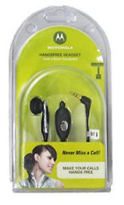 Motorola 2.5mm Mono Hands-Free Headset – Black& silver -in box