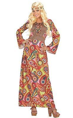 Hippie Woman 60's 70's Hippy Ladies Dress Plus - 70s Fancy Dress Plus Size