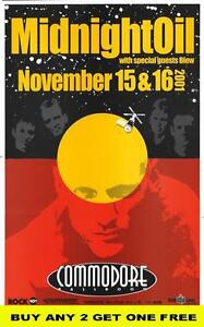 MIDNIGHT OIL / BLEW 2001 Laminated  Tour Poster