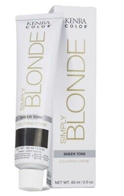 Kenra Color Simply Blonde Sheer Tone Permanent Hair Colour-natural Gold 57g