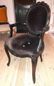 Black French Style Carver Chair
