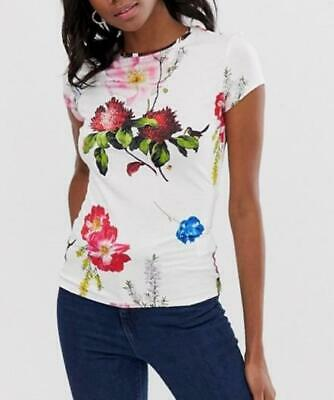 Ted baker-DILILAH-Berry Sundae fitted T-shirt-Size 3 - White- Brand New With Tag