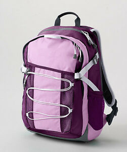 Land's End New Girls Purple Featherlight Medium Backpack School Bag