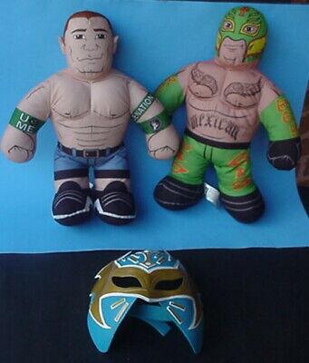 WWE 2011 Brawlin Buddies Wrestling Plush REY MYSTERIO JOHN CENA '12 REY MASK LOT