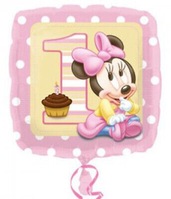 Minnie Mouse 1st Birthday Party Decorations (Baby Minnie Mouse 1st Birthday Party Decorations Mylar Foil Balloon)