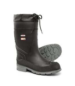 Men's steel toed insulated rubber boots WORN ONCE