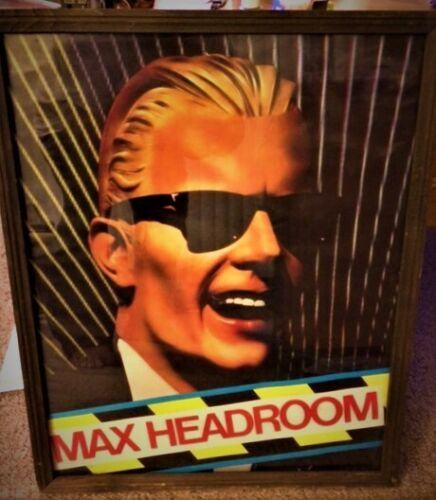 Max Headroom vintage poster in frame...