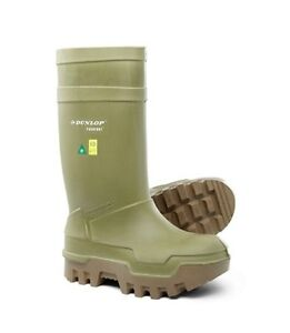Steal toe rubber boots