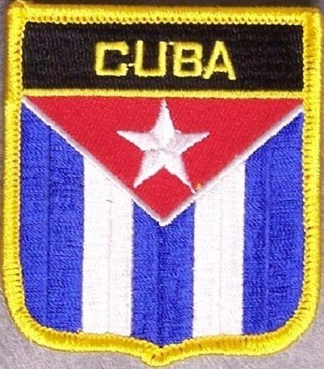 Embroidered International Patch National Flag of Cuba NEW bunting