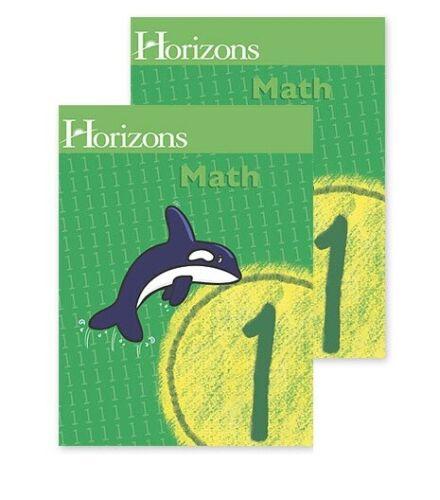 Horizons Math 1 SET of 2 Student Workbooks 1-1 and 1-2 1st grade homeschool