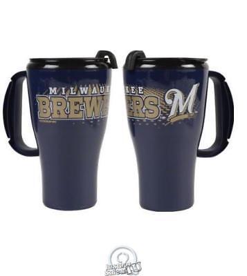 Baseball Plastic Cups (MLB Baseball Milwaukee Brewers 16 Ounce Roadster Tumbler Plastic Mug Coffee)