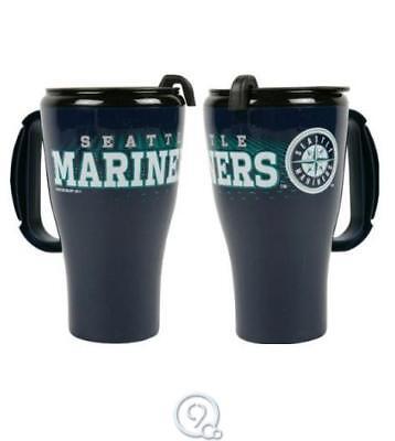 Baseball Plastic Cups (MLB Baseball Seattle Mariners 16 Ounce Roadster Plastic Tumbler Travel Mug)