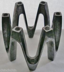 Signed-DANSK-FRANCE-IHQ-Vintage-MODERN-Silverplate-CANDLE-HOLDER-Jens-Quistgaard