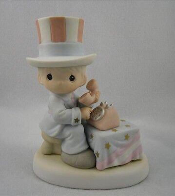 "Precious Moments ""LET FREEDOM RING"" Uncle Sam EARLY EDITION/RARE/ITEM 681059E"