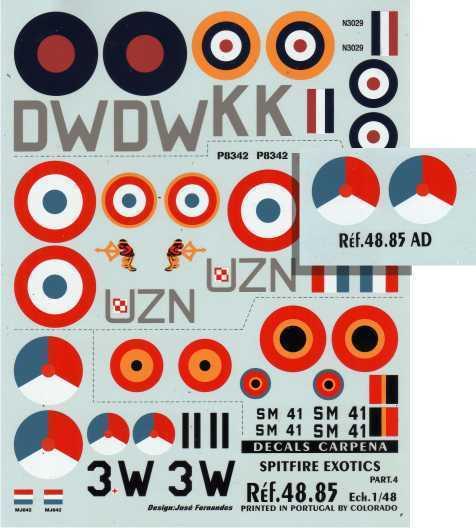 Colorado Decals 1/48 International Supermarine Spitfire Pt 4 # 4