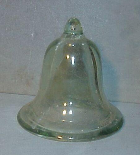 Rare?  Aqua green BELL SHAPED  Glass CLOCHE DOME