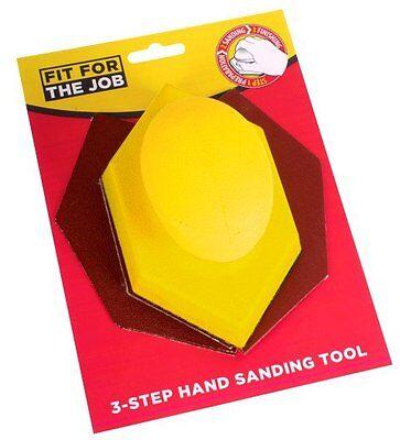 FFJ Soft Grip Hand Abrasive Kit SANDING BLOCK & 6 x SHEETS SANDPAPER (FSAT003)