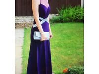 purple prom dress size 6/8 only worn once