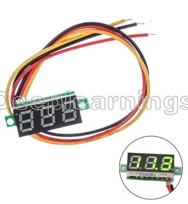0.28 Green 3-wire Led Dc 0-100v Voltmeter Digital Display Voltage Panel Meter S
