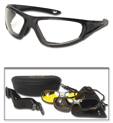 Tactical Google 3in1 schwarz, Schutzbrille, Paintball, Swat         -NEU-