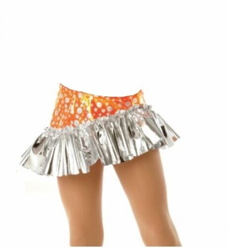 GROUP LOT OF 4 Orange Crush Foil SKIRT ONLY Child Extra Small