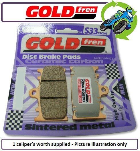 New Triumph Daytona 675 EFI 09 675cc Goldfren S33 Front Brake Pads 1Set